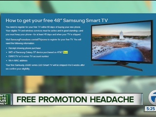 Free TV promotion leaves couple with headache