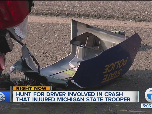 Michigan State Police trooper involved in hit-and-run crash on I-94