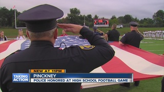 Police honored at Pinckney/Howell football game