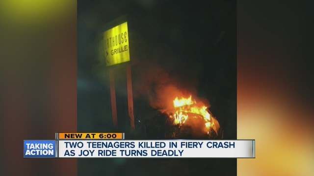 Two Livonia teens killed in fiery crash