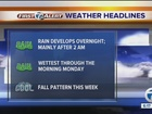 FORECAST: Tracking wet weather