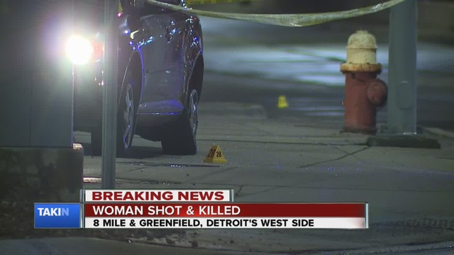 Woman shot, killed while driving in Detroit