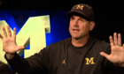 Harbaugh one-on-one: Palmer stories, new khakis