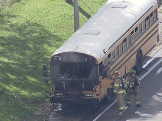 School bus catches fire in Dearborn