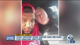 Local man talks about Ohio cop's act of kindness