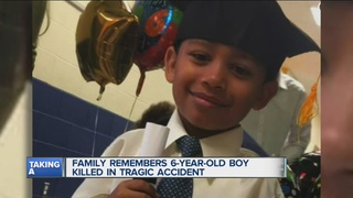 Family grieving accidental death of young boy
