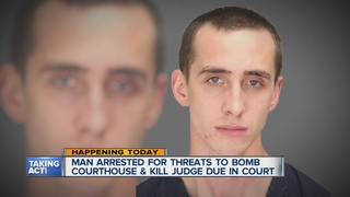 Man arraigned on courthouse, judge threat