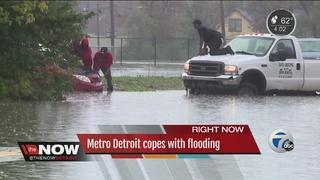 Rain causes massive problems in metro Detroit