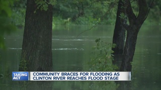 Residents watch and worry as Clinton River rises