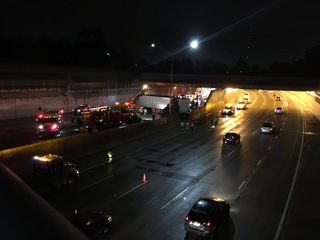 Both directions of I-696 reopen after semi crash
