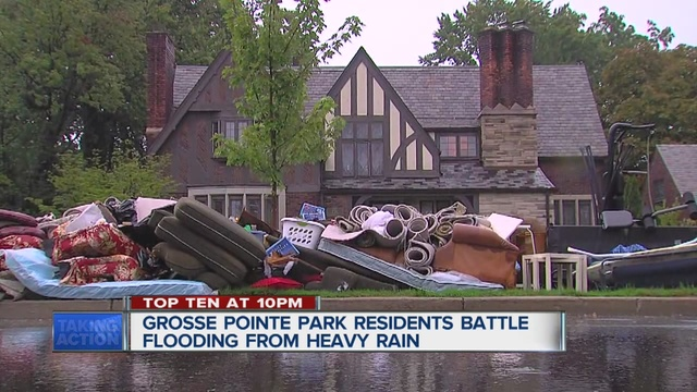 pointe park residents are dealing with flooding from the heavy rains
