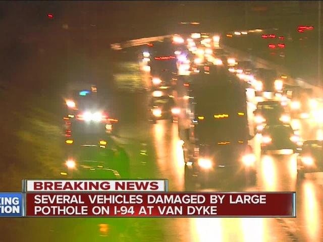 20 cars damaged by pothole