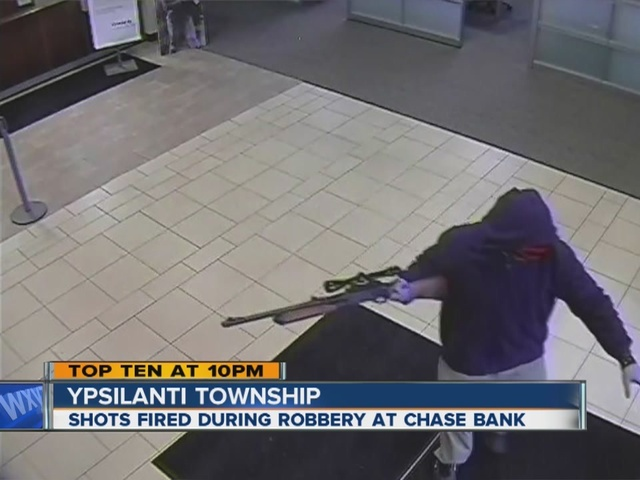 Bank robbery caught on tape