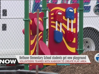 Detroit school getting new playground