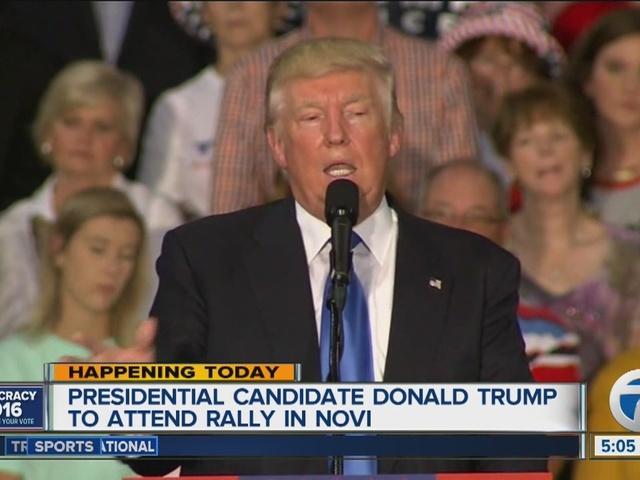 Donald Trump back in Michigan today