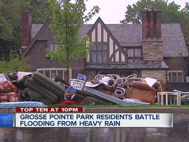 Grosse Pointe Park residents deal with flooding