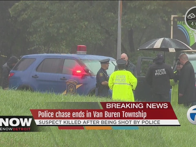 Suspect dies after being shot by Michigan State Police trooper following…