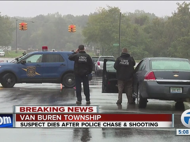 Suspect dies after being shot by Michigan State Police trooper following chase