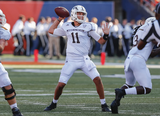 Terrell throws 3 TD passes; WMU holds off EMU