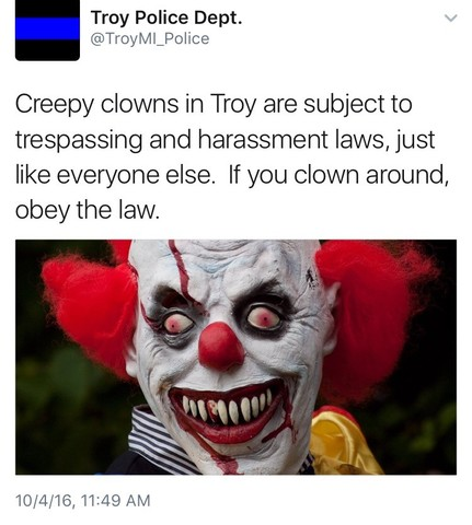 Instagram account says creepy clowns are coming to Pasadena, Whittier