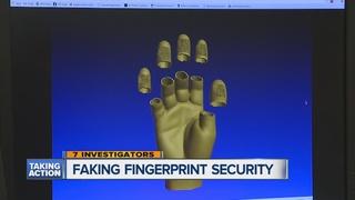 Improving hand print, fingerprint security