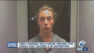 Teen charged with drunk driving in crash