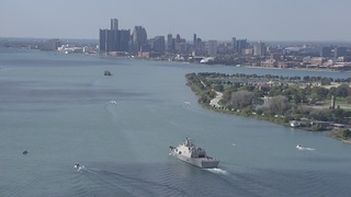 PHOTOS: USS Detroit on its journey to Detroit