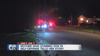 Mother who stabbed teenage son speaks out