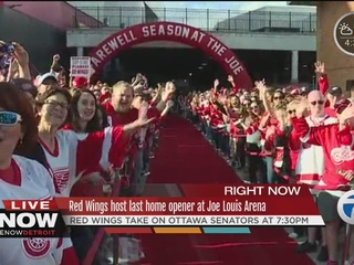 Red Wings host 'red carpet premiere' for opener
