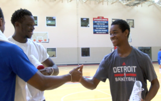 Pistons surprise special fan with meaningful day
