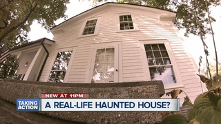 Inside a real haunted house?
