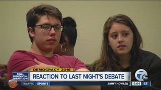 MI residents react to final presidential debate