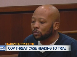 Trial for man accused of threatening cops online