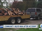 Company comes together to help injured man