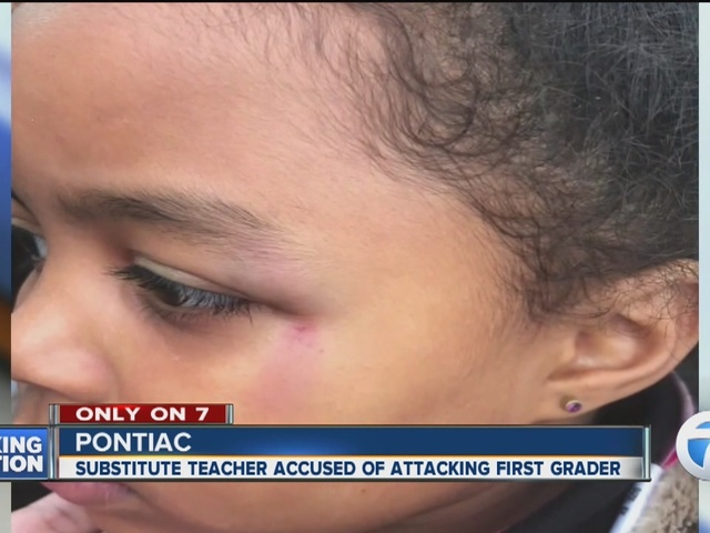 Family claims substitute teacher assaulted first-grade Pontiac student