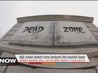 Teen turns backyard into haunted house