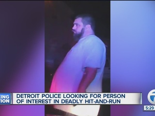 Person of interested wanted in fatal hit and run