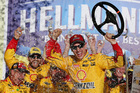 Logano wins at Talladega to advance in Chase