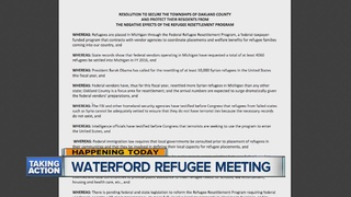 Waterford Twp. to vote on acceptance of refugees