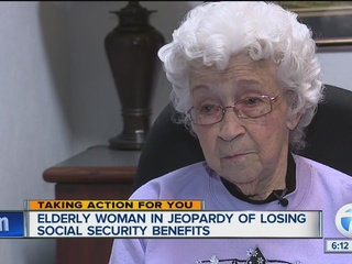 Elderly woman in jeopardy losing social security