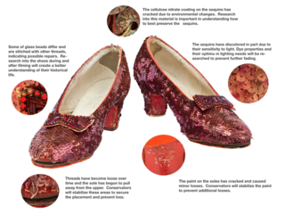 Crowdfunding goal hit to save Dorothy's slippers