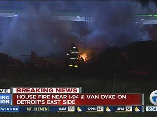 Arson suspected in massive Detroit house fire