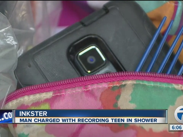Man allegedly records teen in shower