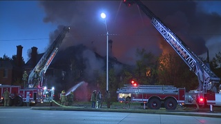 Large building fire on Detroit's east side