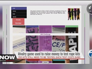 Rivalry used to raise money to test rape kits