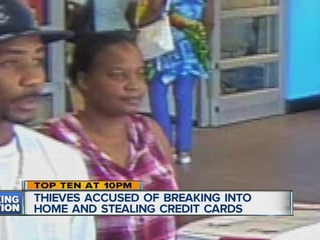 Credit card thieves caught on camera