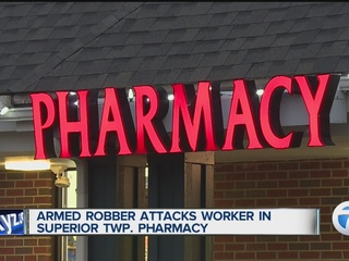 Armed robber attacks pharmacist in Superior Twp.