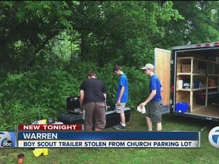 Boy Scout troop's trailer, camping gear stolen