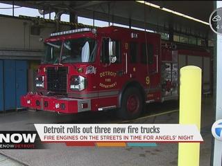 Detroit Fire Department rolls out 3 new trucks