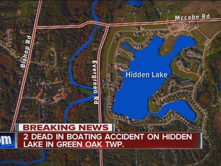 Two dead when boat overturns on Hidden Lake